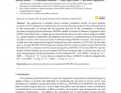assimilation of earth observations paper front page