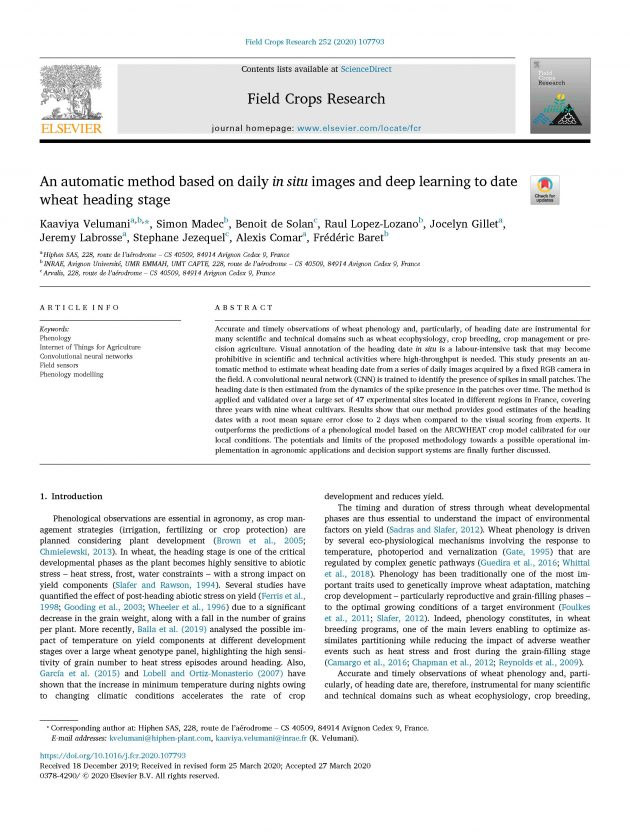 automatic method and deep learning paper front page
