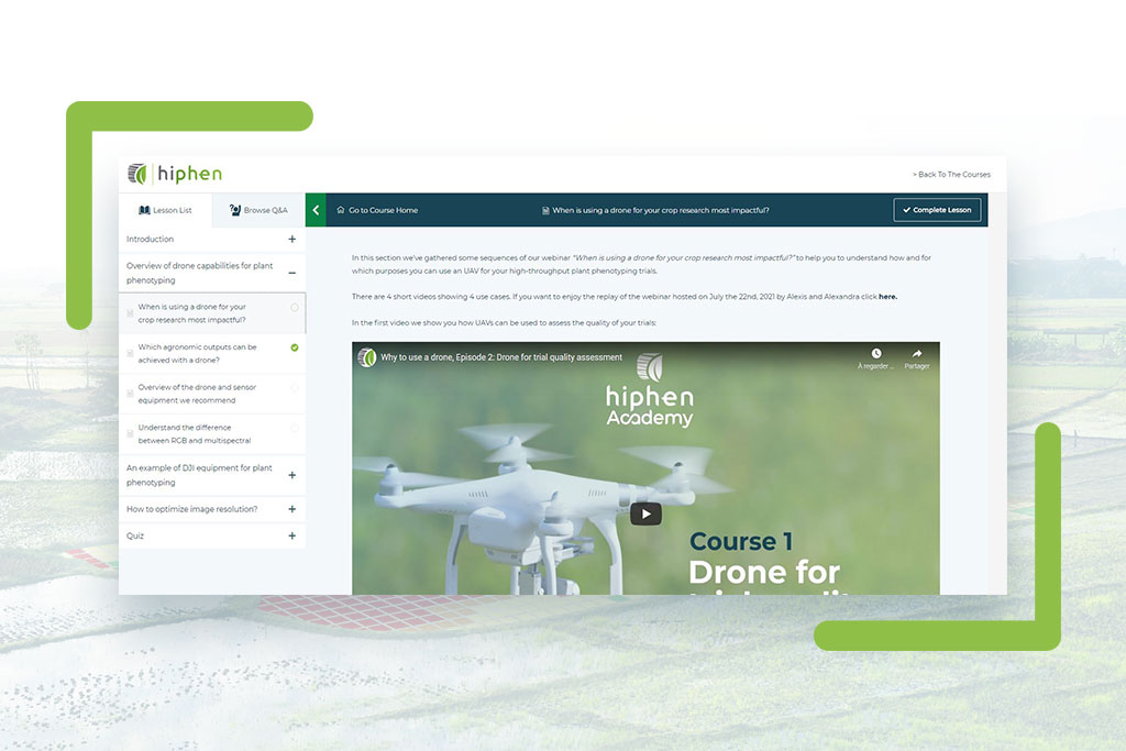 drone academy interface visual